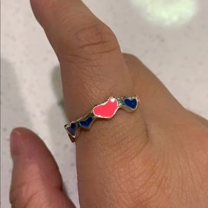 Vintage inspired hearts ring
